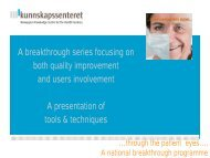 A breakthrough series focusing on both quality improvement