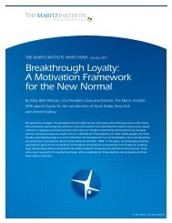Breakthrough Loyalty: A Motivation Framework for ... - Maritz Institute