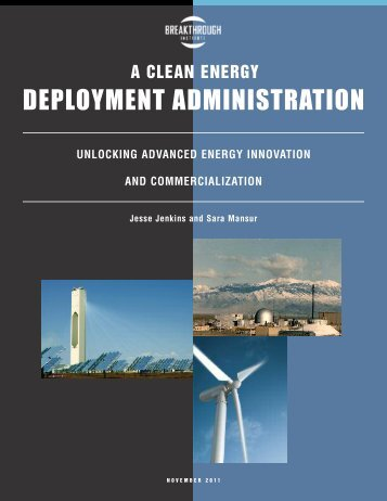 Clean Energy Deployment Administration - The Breakthrough Institute