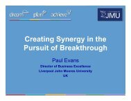 Creating Synergy in the Pursuit of Breakthrough - Tecnun