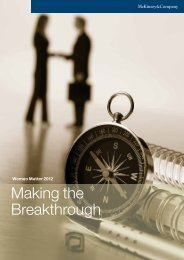 Women Matter 2012: Making the Breakthrough - McKinsey & Company