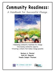 Community Readiness: A handbook for successful change - NAMI