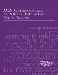 Standards for Acute and Critical Care Nursing Practice - American ...
