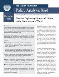 Coercive Diplomacy: Scope and Limits in the Contemporary World