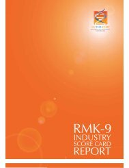 RMK 9 Industry Score Card Report - Malaysian Biotechnology ...