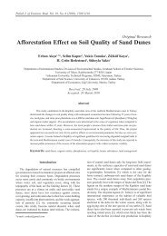 Afforestation Effect on Soil Quality of Sand Dunes - Polish Journal of ...