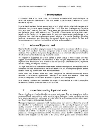 Kincumber Creek Riparian Management Plan - Gosford City Council
