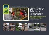Christchurch February Earthquake: Effect on - Environment Canterbury