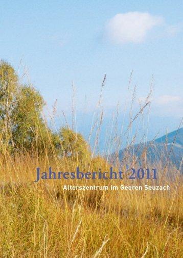 Jahresbericht 2011 - Alterszentrum im Geeren
