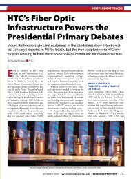 HTC's Fiber Optic Infrastructure Powers the Presidential Primary ...