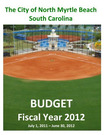 Budget - City of North Myrtle Beach