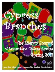Cypress Branches Literary Journal - Lamar State College-Orange