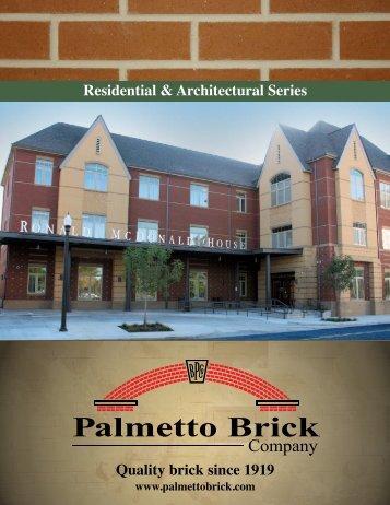Palmetto Brick Company 2012 Brochure