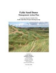 Sand Dunes Management Action Plan - Fylde Borough Council