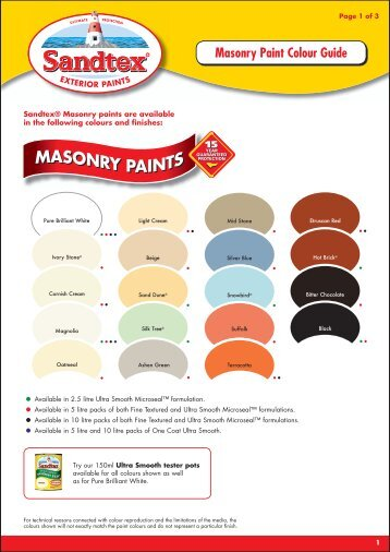 Wickes Smooth And Textured Masonry Paints British Board Of