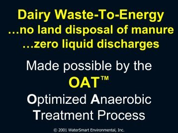 OAT™ - WaterSmart Environmental, Inc.
