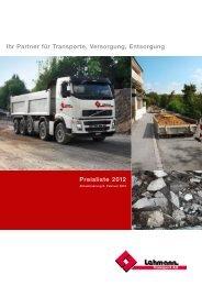 Download Preisliste 2012 - Lehmann Transport AG, Zollikofen