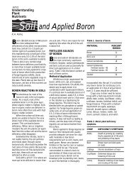 Soil and Applied Boron (A2522) - Department of Soil Science ...