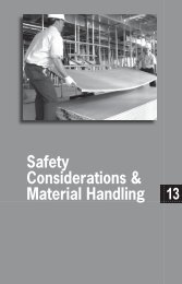 13 Safety Considerations & Material Handling - USG Corporation