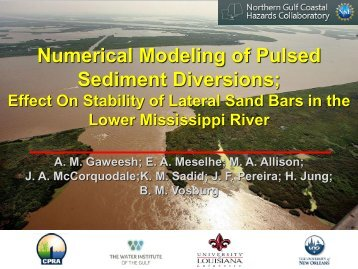 Numerical Modeling of Pulsed Sediment Diversions; - The Water ...