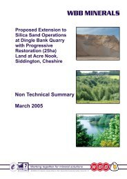 The Proposed Extension to Silica Sand Operations ... - WBB Minerals
