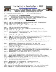 2013 Riding Schedule - Pretty Prairie Saddle Club
