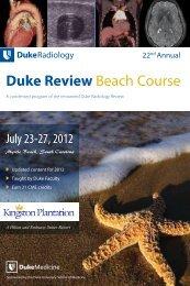 Duke Review Beach Course - Duke Department of Radiology - Duke ...