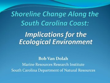 Implications for the Ecological Environment - SC Department of ...