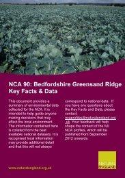 NCA 90: Bedfordshire Greensand Ridge Key ... - Natural England