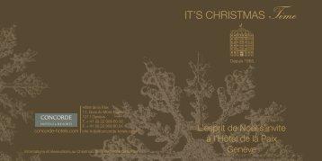 IT'S CHRISTMAS Time - Hotel de la Paix