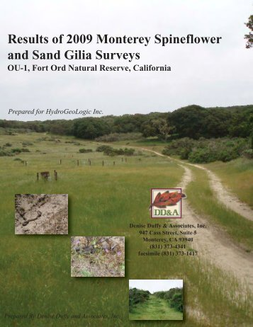 Results of 2009 Monterey Spineflower and Sand Gilia Surveys