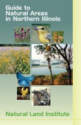 Guide to Natural Areas in Northern Illinois - the Natural Land Institute!