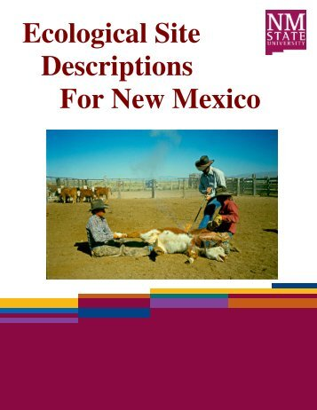 Ecological Site Descriptions For New Mexico