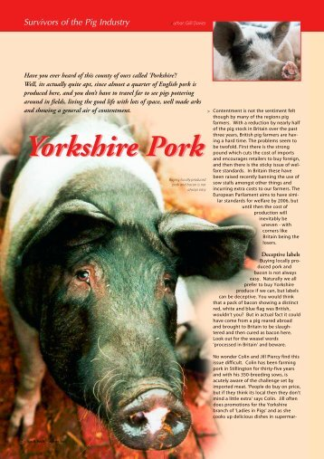 Yorkshire Pork Yorkshire Pork - Gilli Cliff