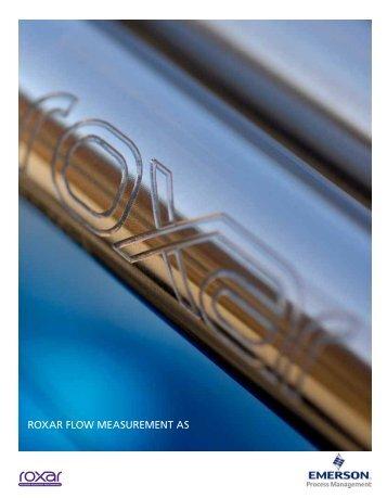 ROXAR FLOW MEASUREMENT AS - Emerson Process Management