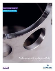 The Roxar Acoustic products portfolio - Emerson Process ...