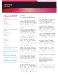 DISMAL SCIENTIST U.S. Weekly Highlights