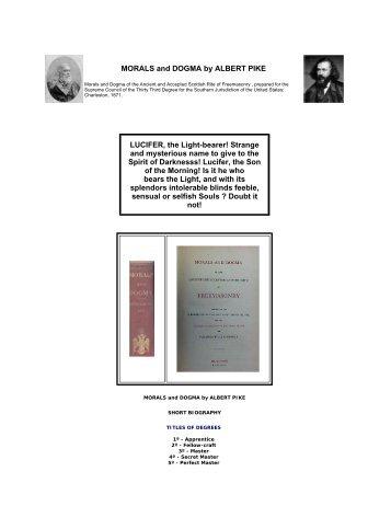 MORALS and DOGMA by ALBERT PIKE LUCIFER ... - benpadiah.com