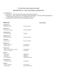Plant List - Bristlecone Chapter of the California Native Plant Society