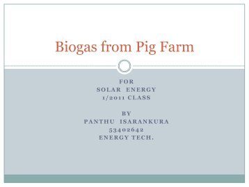 Biogas from Pig Farm