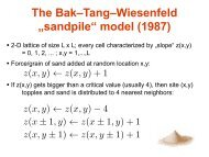 "The Bak–Tang–Wiesenfeld ""sandpile"" model (1987)"