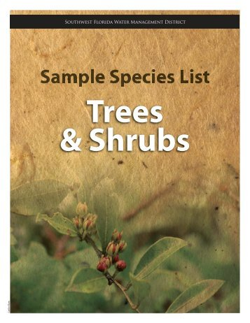 trees & shrubs - Southwest Florida Water Management District