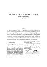 Tide induced piping risk assessed by transient ... - Kivi Niria