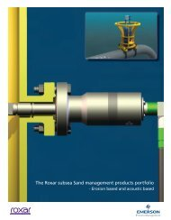 Roxar subsea Sand Management Brochure - Emerson Process ...