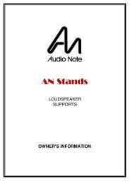 Speaker Stands - Audio Note