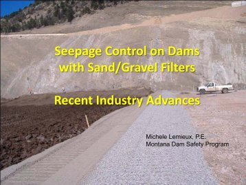 Seepage Control on Dams with Sand/Gravel Filters ... - MADCS