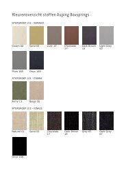 Kleurenoverzicht stoffen Auping Boxsprings