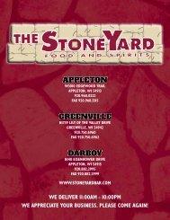 Appleton greenville dArboy - StoneYard Food & Spirits