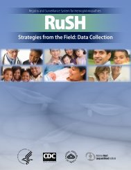 RuSH: Strategies from the Field - Centers for Disease Control and ...