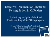 Effective Treatment of Emotional Dysregulation in Offenders
